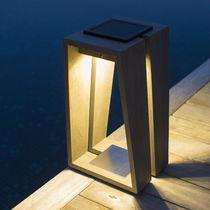 Lampe baladeuse / contemporaine / en teck / lanterne