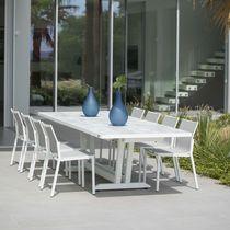 Table à manger contemporaine / en aluminium / en HPL / rectangulaire