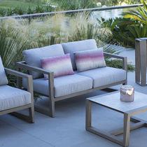 Canapé contemporain / d'extérieur / en Sunbrella® / en teck