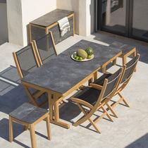Table à manger contemporaine / en bois / en HPL / rectangulaire