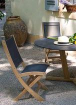 Chaise contemporaine / en noyer / pliante / de jardin