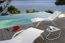 Chaise longue contemporaine / en Batyline® / en aluminium / de jardin