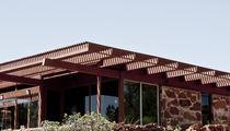Auvent pour terrasse / en bois