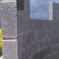 Bloc de béton léger / plein / pour mur porteur / à haute résistance