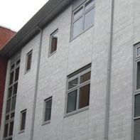 Bloc de béton plein / pour mur / pour façade / haute performance