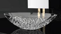Vasque à poser / ovale / en cristal / contemporaine