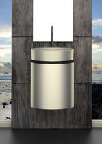Meuble vasque suspendu / en métal / contemporain