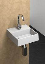 Lave-mains suspendu / carré / en céramique
