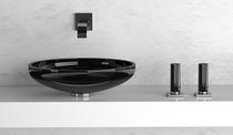 Mélangeur pour vasque / à poser / en cristal / de salle de bain