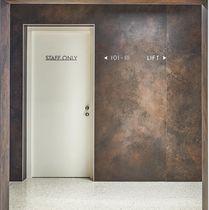 Panneau de revêtement / en céramique / pour agencement intérieur / texturé