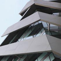 Bardage en céramique / texturé / aspect métal / pour façade ventilée