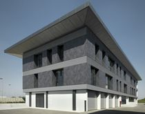 Bardage en céramique / mat / aspect métal / pour façade ventilée
