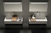Vasque double / suspendue / rectangulaire / en Corian®