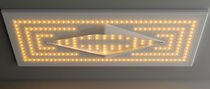 Pommeau de douche encastrable au plafond / rectangulaire / avec éclairage intégré