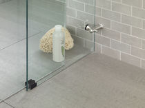 Charnière de douche / pour porte / acier