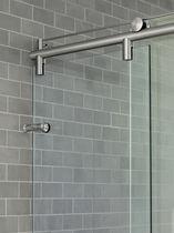 Charnière de douche / pour porte / simple / acier