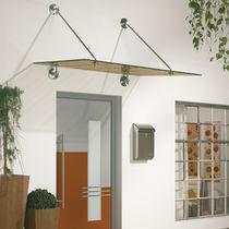Auvent pour fenêtre / pour porte / en verre / en métal