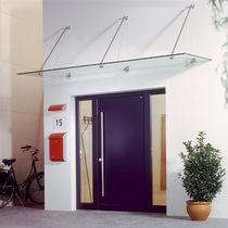 Auvent pour porte et fenêtre / en verre / en métal / à usage professionnel