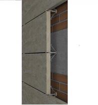 Système de fixation en métal / en acier inox / pour bardage / pour façade ventilée