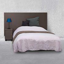 Lit double / contemporain / avec tête de lit / en MDF laqué