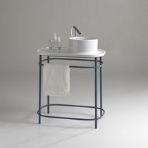 Console pour lavabo en métal / en céramique