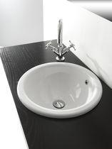 Vasque à encastrer / ronde / en céramique / contemporaine