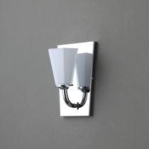Applique murale classique / en tissu / en métal chromé / à incandescence