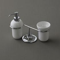 Distributeur de savon à poser / en céramique / manuel
