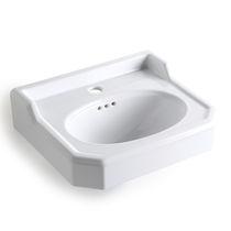 Vasque suspendue / rectangulaire / en céramique / traditionnelle