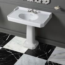 Vasque sur pied / rectangulaire / en céramique / classique