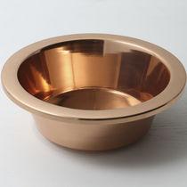 Vasque à poser / ronde / en cuivre / contemporaine
