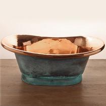 Vasque à poser / ovale / en cuivre / contemporaine
