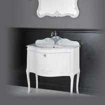 Meuble vasque suspendu / en MDF / de style / avec miroir
