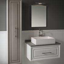 Meuble vasque en MDF / de style / avec miroir