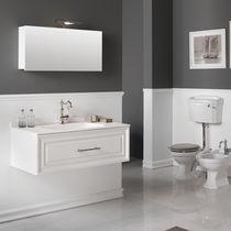 Meuble vasque en MDF / contemporain / avec miroir