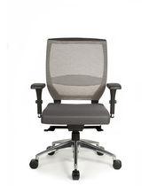 Chaise de bureau contemporaine / réglable / pivotante / tapissée