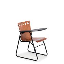 Chaise de conférence empilable / à tablette / luge / en métal