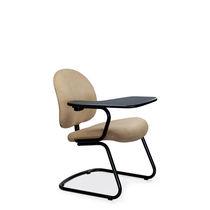 Chaise visiteur contemporaine / tapissée / cantilever / à tablette