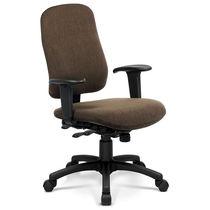 Chaise de bureau contemporaine / avec dossier haut / pivotante / à roulettes