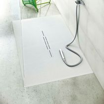 Receveur de douche rectangulaire / en ardoise / avec siphon extra plat