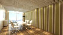 Panneau acoustique pour plafond / en polyester / ignifuge / pour bureau