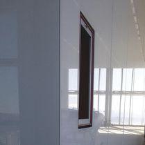 Panneau décoratif de construction / en verre / composite / pour cloison