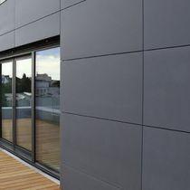 Parement en pierre naturelle / pour façade / gris / aspect pierre