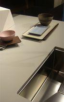 Plan de travail en céramique / de cuisine / gris