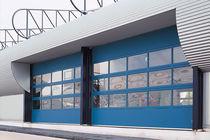 Porte industrielle sectionnelle / en métal / automatique / pour établissement public