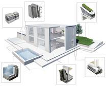 Isolant thermique / en verre cellulaire / pour extérieur / pour radier