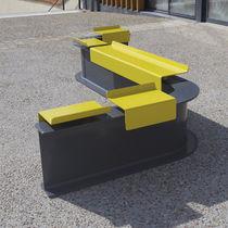 Banc public / de jardin / contemporain / en acier peint