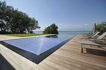 Couverture de piscine automatique / thermique / à lattes / immergée