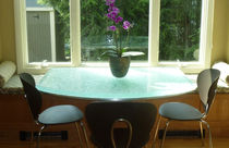 Table contemporaine / en verre