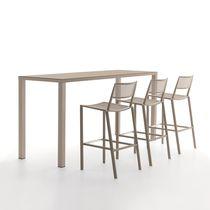 Table mange-debout contemporaine / en métal / rectangulaire